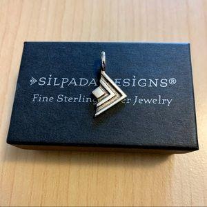 Silpada sterling silver logo pendant